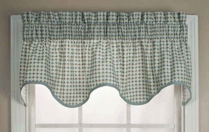Strobe Geometric Print Wave Valance Window Curtain