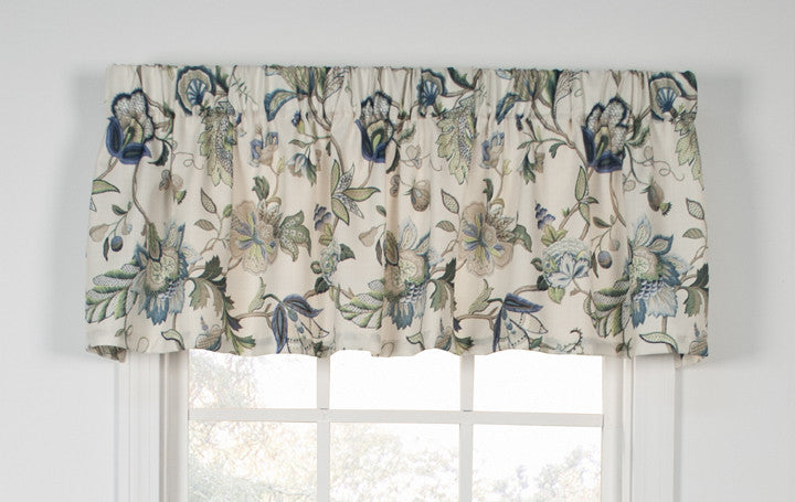 print vine ties products curtain toppers valance tie curtains window azure blue vintage versa