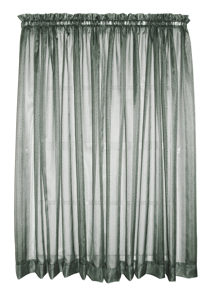 Amherst Solid Color Sheer Panels Window Curtains Pair