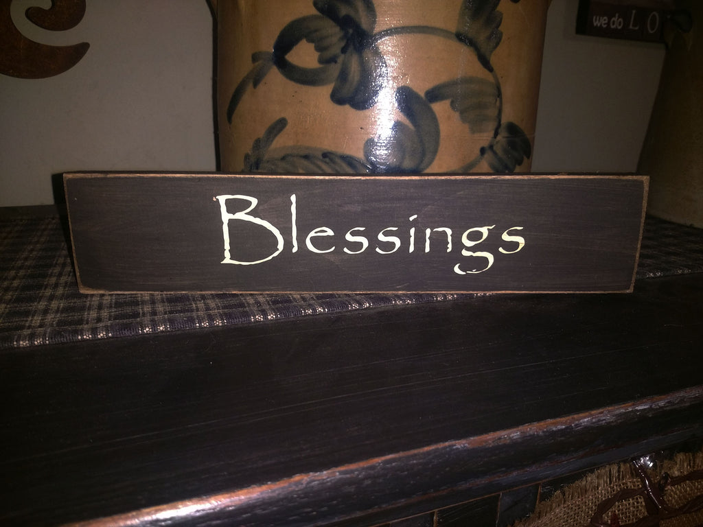 "Primitive Country Sign ""Blessings"""