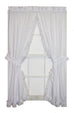 Cape Cod White Lace Ruffled Shaped Valance Window Curtain