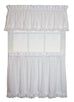 Cape Cod White Lace Ruffled Tiers Window Curtains