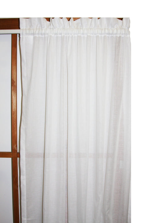 Vermont Cotton Voile Sheer Panels Pair Window Curtains
