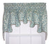 Duncan Damask Print Lined Duchess Filler Valance Window Curtain