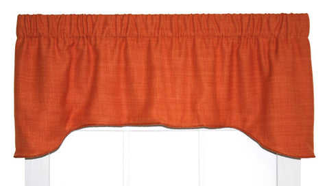 Hampton Bay Solid Color Lined Arch Valance Window Curtain