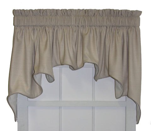 Hampton Bay Solid Color Lined Duchess Swags Valance Window Curtain