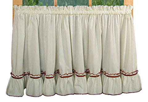 Jenny Country Ruffled Tiers Window Curtains