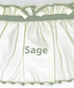 Jenny 3 Piece Country Ruffled Swags & Filler Valance Window Curtains Set - Sage green