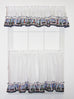 Lighthouse Harbor Ruffled Valance Window Curtain