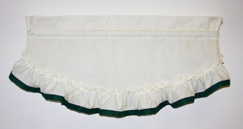 Lucy Country Ruffled Filler Valance Window Curtain with Banded Edge Ruffle - Hunter green