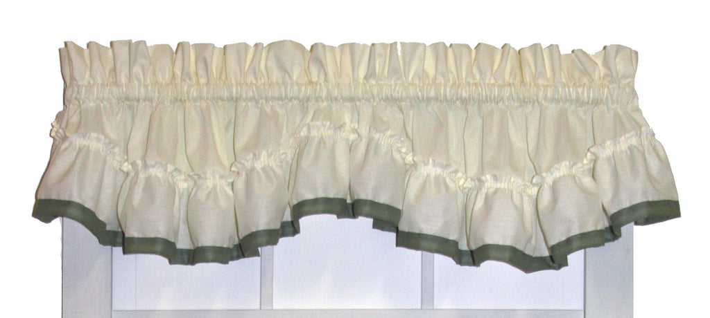 ... Lucy Country Ruffled Priscilla Window Curtains With Banded Edge Ruffle  And Tie Backs ...