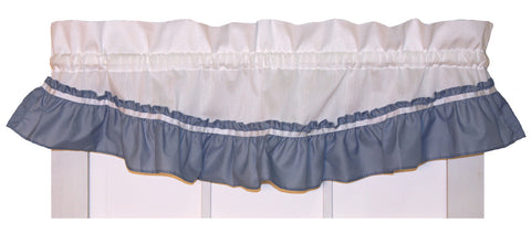 Lynn White Ruffled Filler Valance Window Curtain