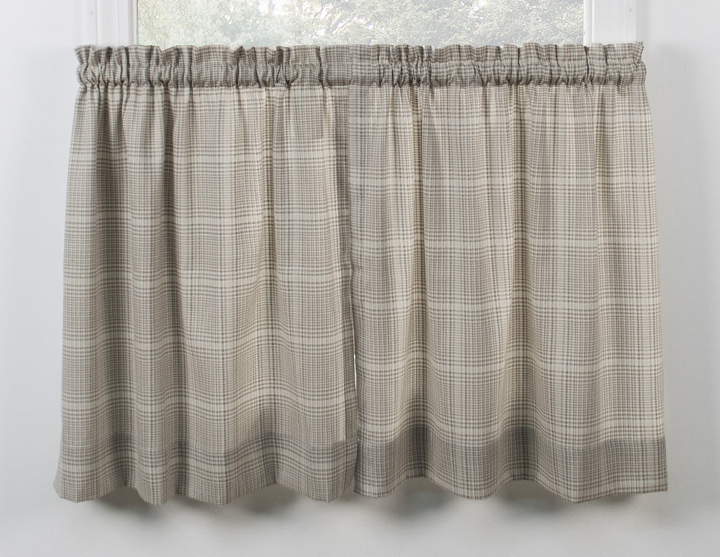 Morrison Plaid Print Cotton Twill Fabric Shower Curtain