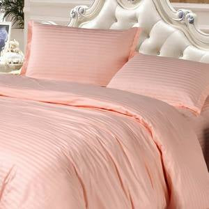 4 Pc Hotel Bedding Set 100 Cotton Solid Color Twill Pattern With