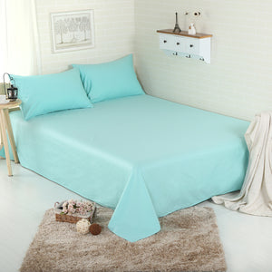 Beau 3pc Solid Color Bed Sheet Set 100% Cotton 500 Thread Count With Flat  Bedsheet U0026 Pillowcases   Twin/Queen/King Size