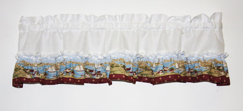 Seaside Village Ruffled Valance Window Curtain