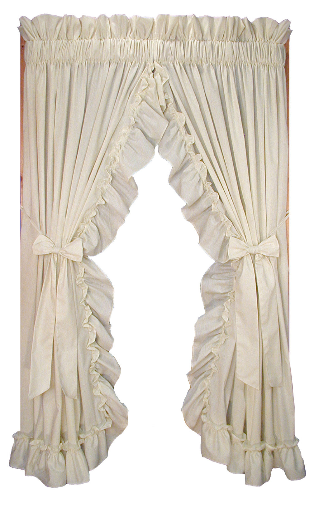 Stephanie Solid Color Country Ruffled Shaped Valance