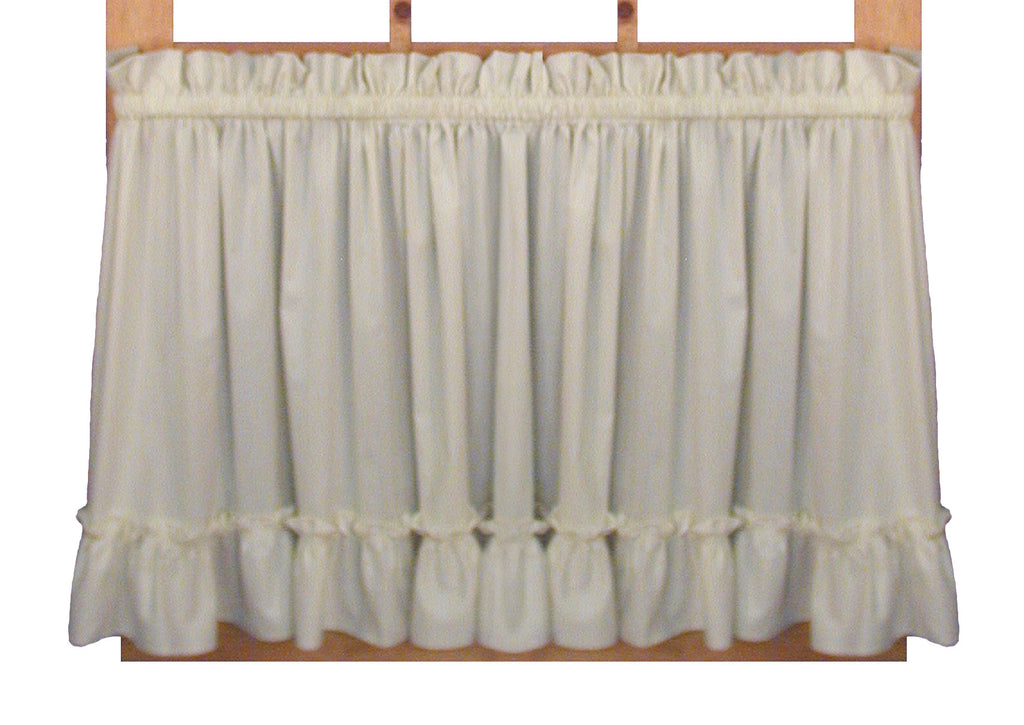 ... Wendy Solid Color Ruffled Priscilla Window Curtains with Attached Top  Ruffle and Tie Backs ... - Wendy Solid Color Ruffled Priscilla Window Curtains With Attached
