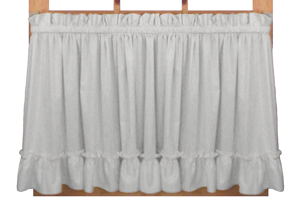 Stephanie Solid Color Country Ruffled Shaped Valance Window Curtain  sc 1 st  Window Toppers & Stephanie Solid Color Country Ruffled Priscilla Window Curtains ...