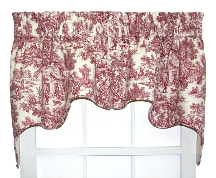 Toile Print Curtains | Window Toppers