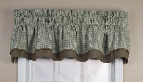 Logan Country Gingham Print Bradford Valance Window Curtain