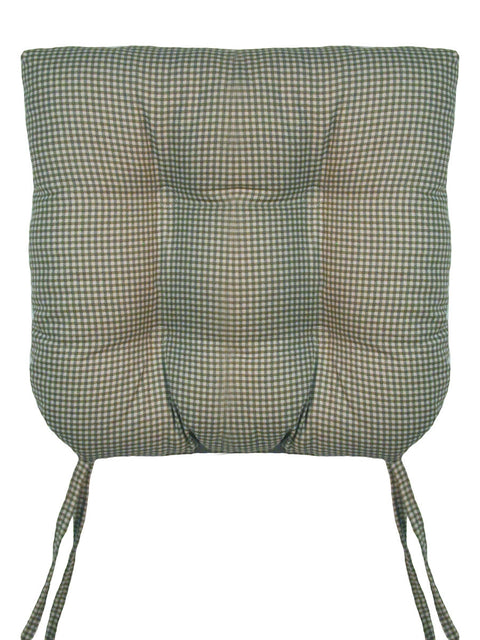 Logan Country Gingham Print Cushion Seat Chair Pad