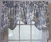 Victoria Park Print Lined Scallop Valance Window Curtain
