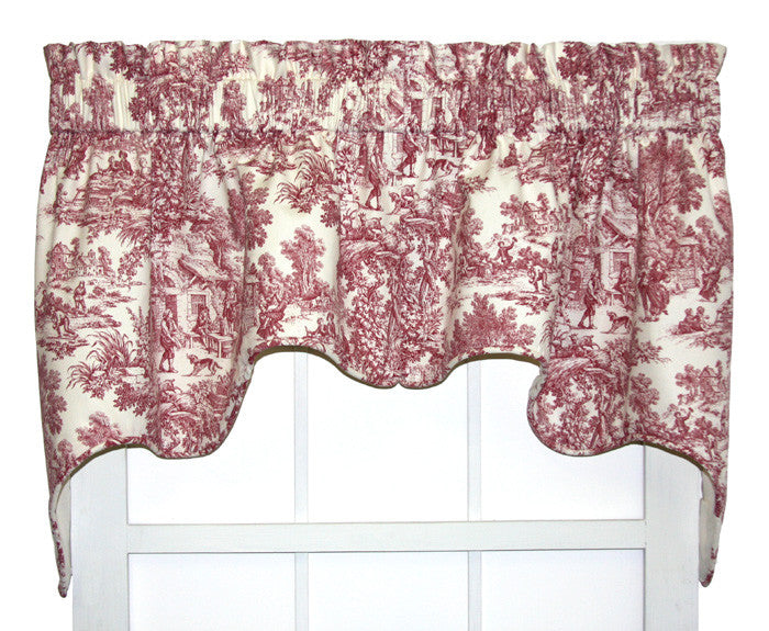 Victoria Park Toile Print Curtains Collection | Window Toppers