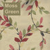 Vintage Vine Fabric - Moss green