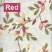 Vintage Vine Fabric - Red