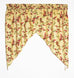 Vintage Vine Print Tailored Tiers Window Curtains