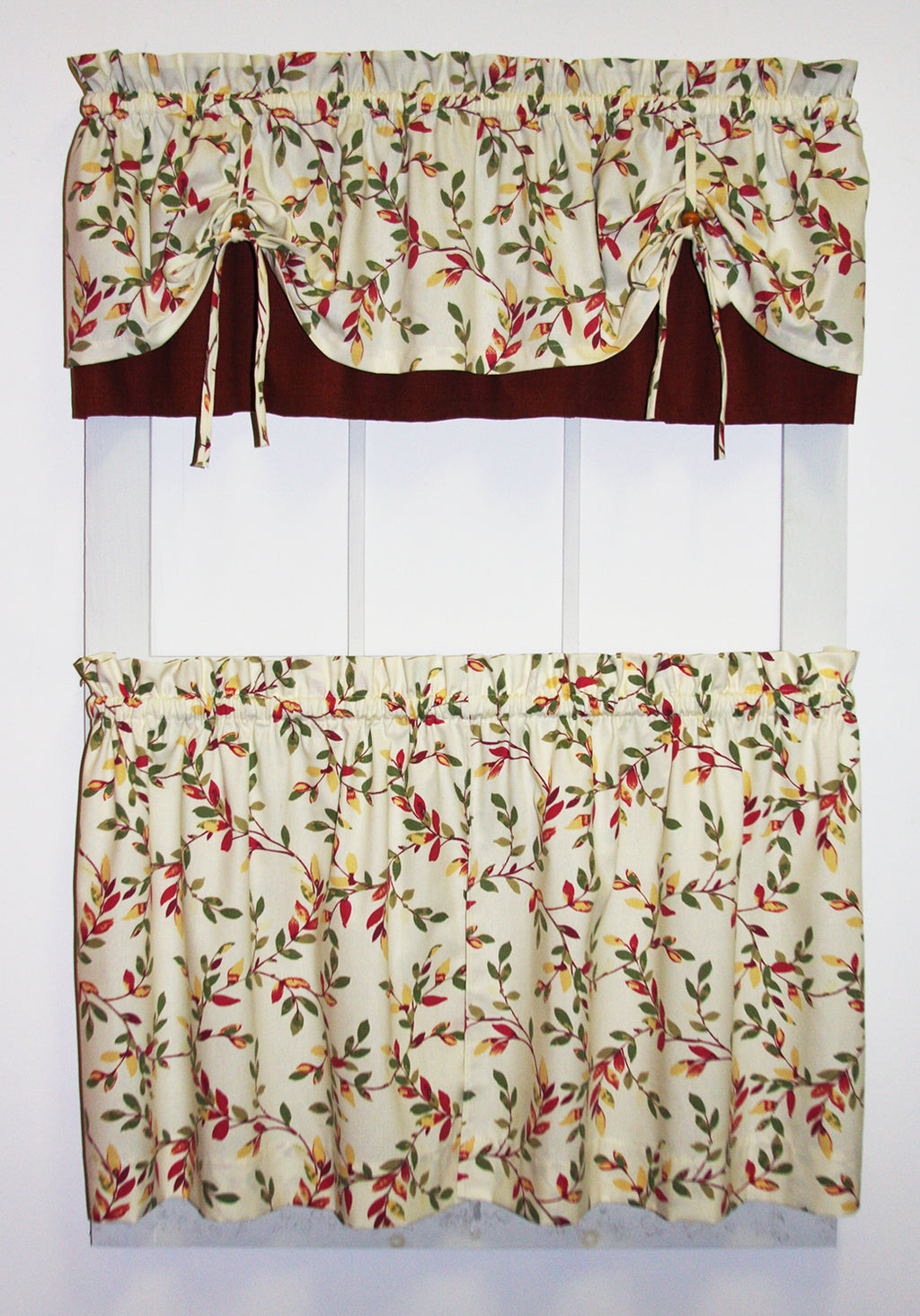 Red Floral Print Kitchen Chair Cushions X