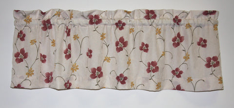 Zoe Floral Crushed Taffeta Fabric Valance Window Curtain