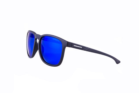 "Rees ""Raven Black"" with ""REVO Blue"" Lenses"