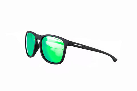 "Rees ""Raven Black"" with ""REVO Green/Blue"" Lenses"