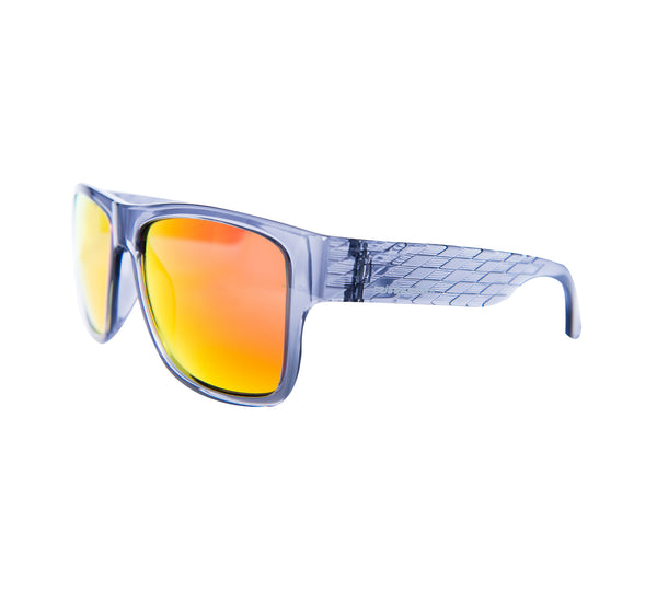 "Harper ""Crystal Grey"" with ""REVO Red/Orange"" Lenses"