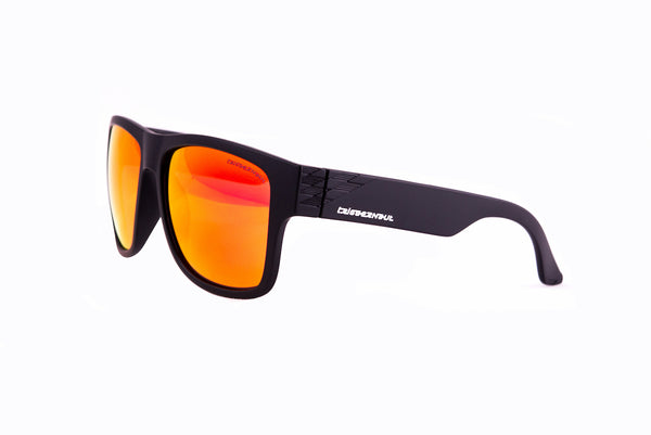 "Harper ""Raven Black"" with ""REVO Red/Orange"" Lenses"