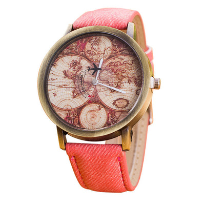 Vintage Map Quartz Watch