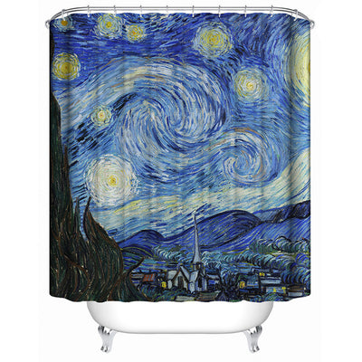 Starry Night Shower Curtain - OnionFox
