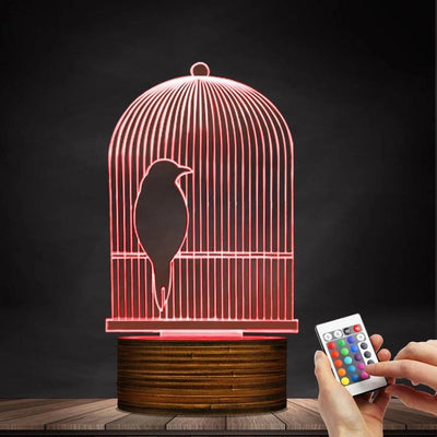 Bird Cage 3D Night Light - OnionFox