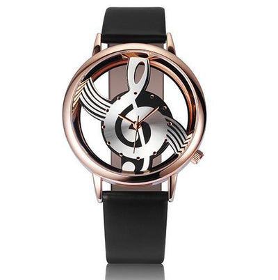 Musical Note Leather Watch - OnionFox
