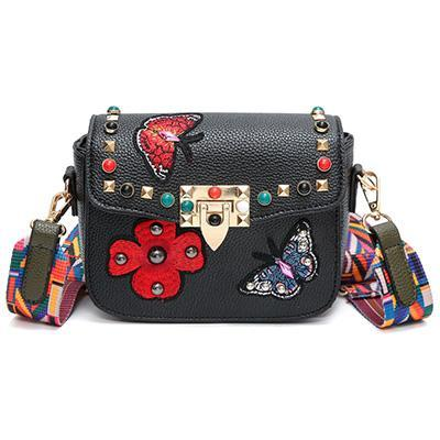 Rivet Patches Crossbody Bag - OnionFox