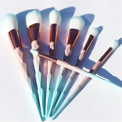 Unicorn diamond Makeup Brushes Set 7/10/12pcs - OnionFox