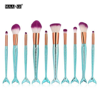 Mermaid Makeup Brushes - OnionFox