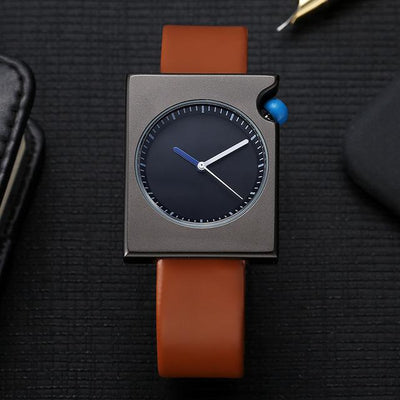 Elegant Leather Watch - OnionFox