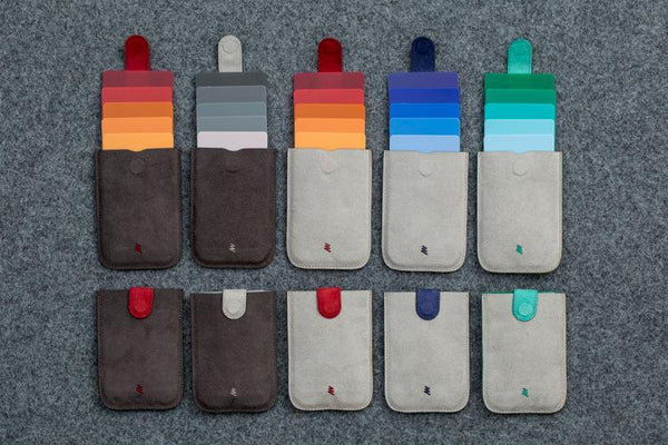 Ultra Slim Colorful Pulled Cards Wallet - OnionFox