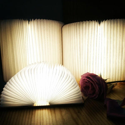 LED Foldable Wooden Book Lamp - OnionFox
