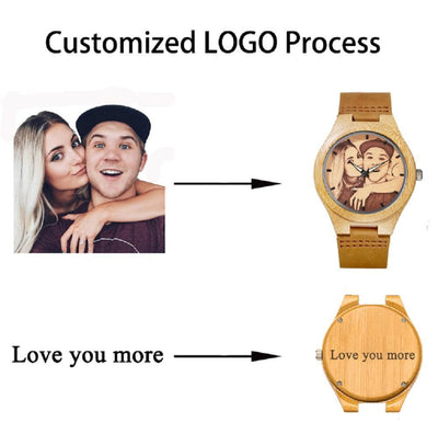 Custom Photo Wood Watch - OnionFox