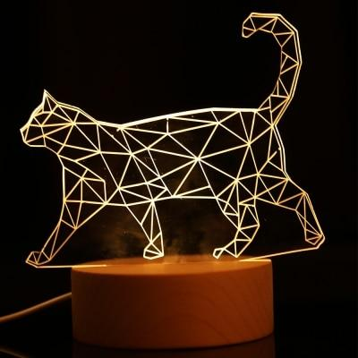 Cat,Leopard,Owl 3D LED Decoration Lamp - OnionFox
