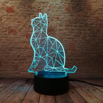 Cat 3D Color Lamp - OnionFox